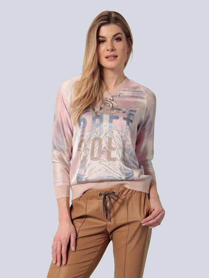 SPORTALM Blusenshirt mit Seidenanteil, Rosé