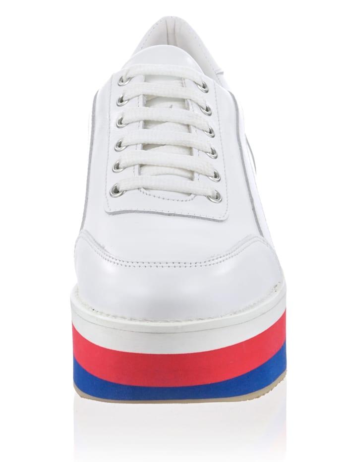 Sneaker mit Streifensohle