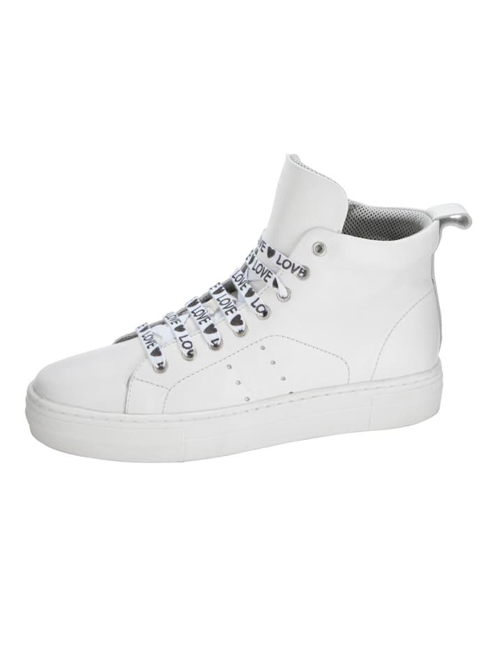Liva Loop Sneakers med högt skaft, Vit