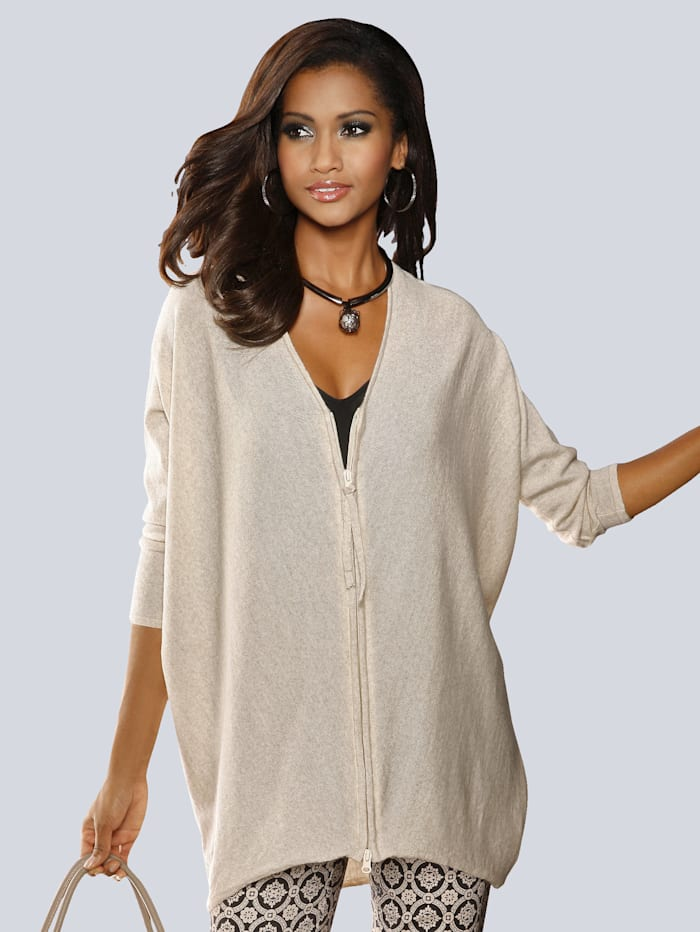 Alba Moda Cardigan in modischer Oversized Form, Beige