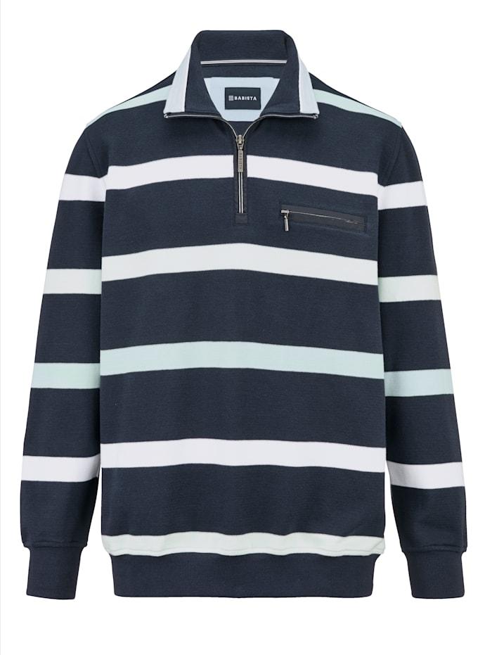 BABISTA Sweatshirt in besonders angenehmem Stoff, Marineblau/Grün