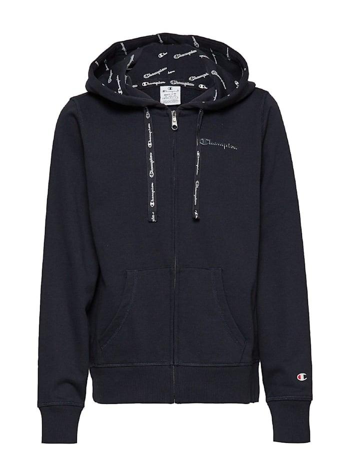 Champion Champion Sweatshirt Hooded Full Zip, Marineblau
