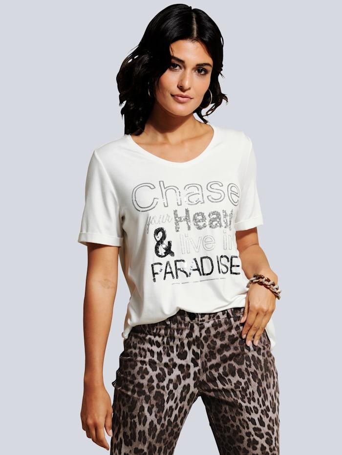 Shirt mit effektvollem Schriftzug