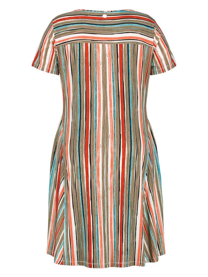 Shirtkleid mit Multicolor-Streifen