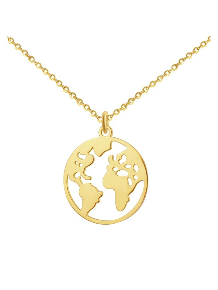 GOOD.designs Edelstahlkette Weltkette, gold