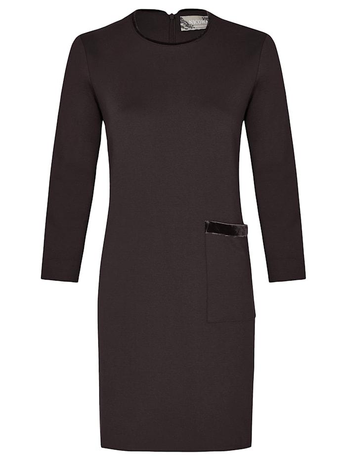 Nicowa Locker geschnittenes, stilvolles Kleid IPUPA, black