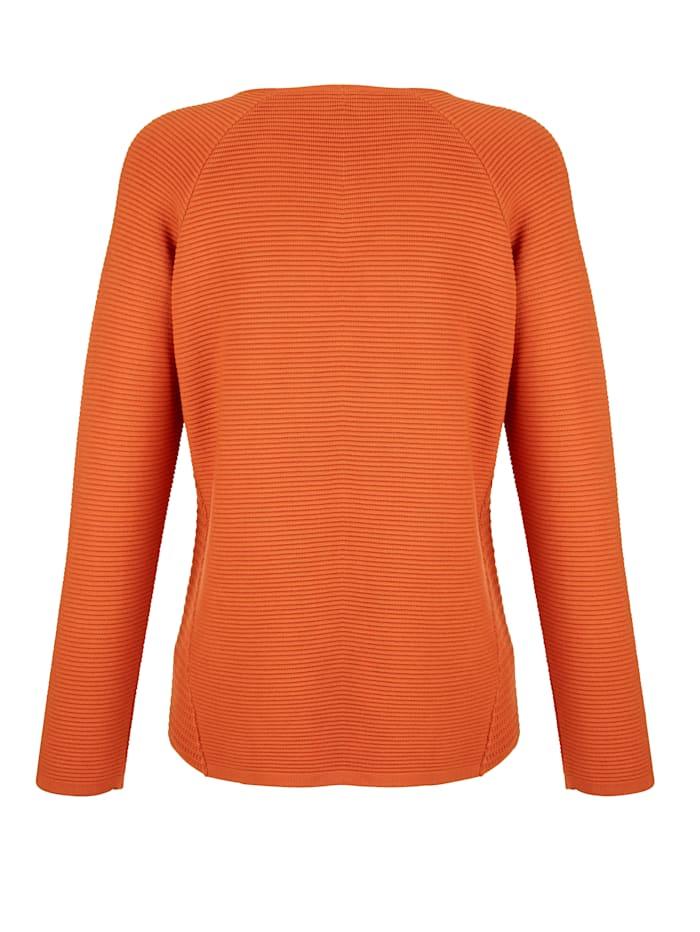 Pullover mit Ajourstrick-Einsätzen