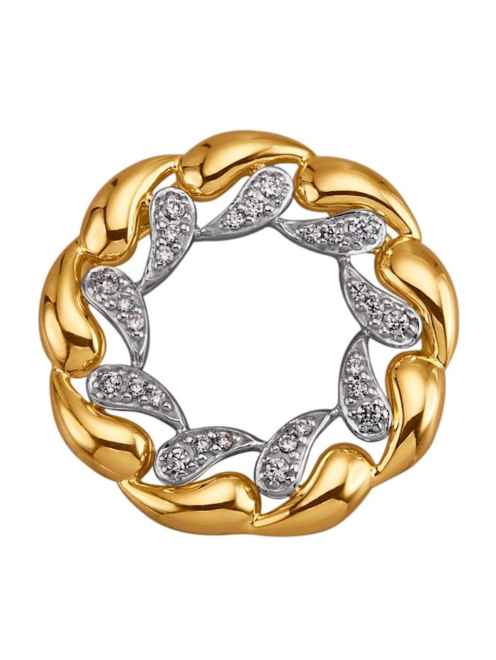 Diemer Diamant Anhänger mit Brillanten, Gelbgoldfarben
