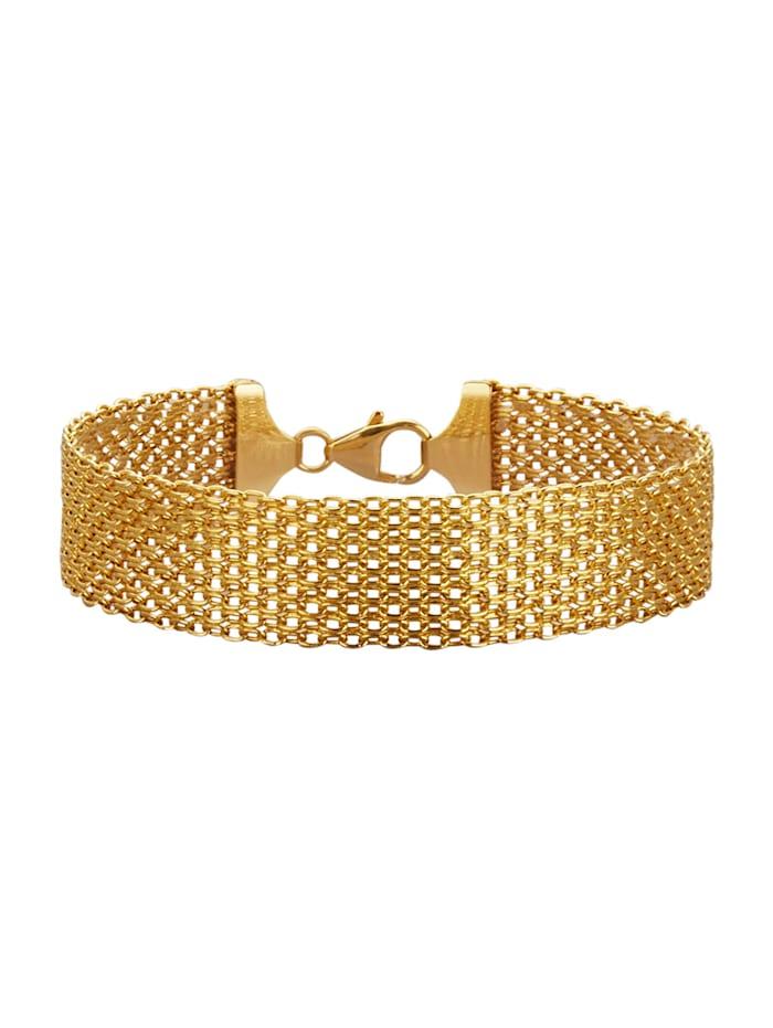 Diemer Gold Bismarckarmband, Gelbgoldfarben