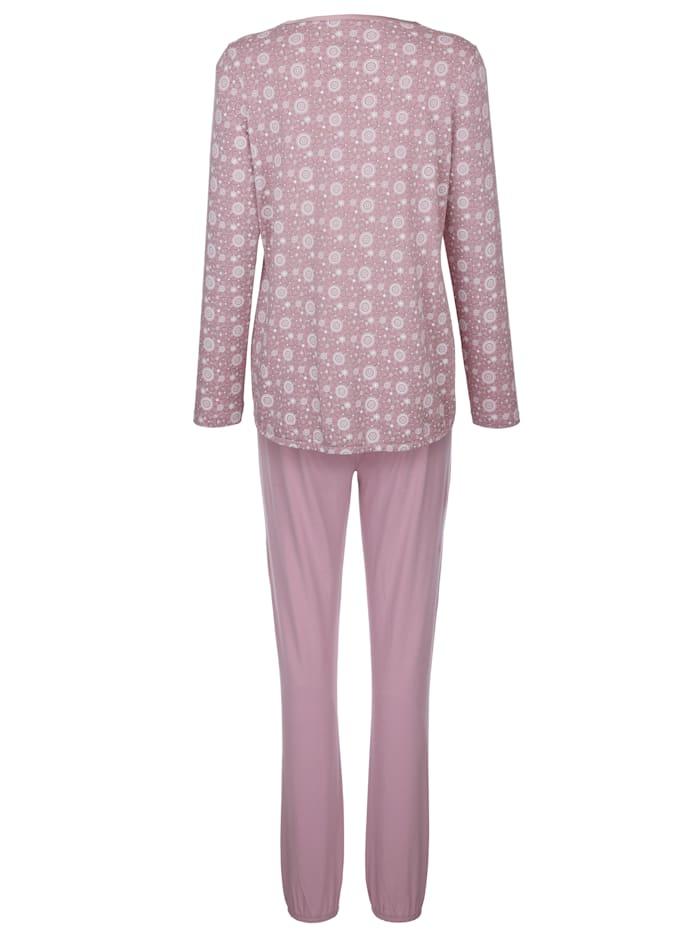 Pyjama met elegante satijnen band