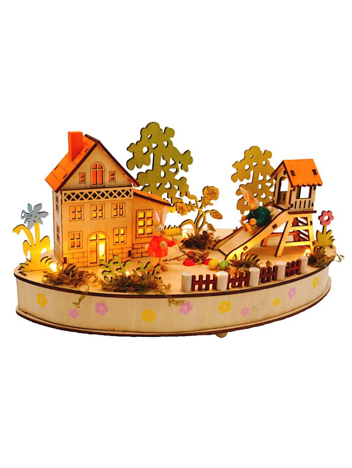 Schwartinsky Led-paasdorp met muziek, multicolor