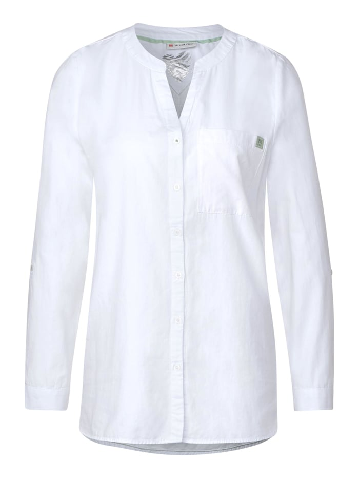 Street One Longbluse in Unifarbe, White