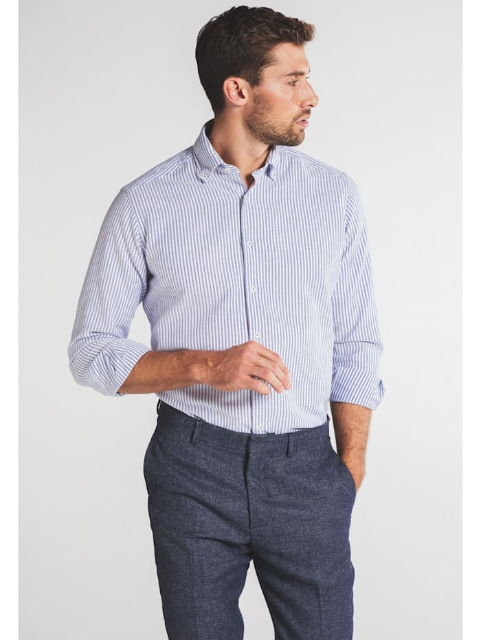 Eterna Eterna Langarm Hemd REGULAR FIT, blau