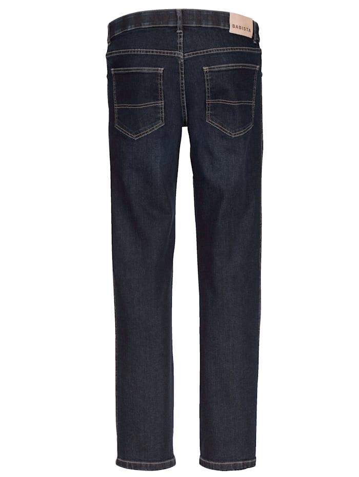 Unterbauch-Jeans mit verkürzter Leibhöhe