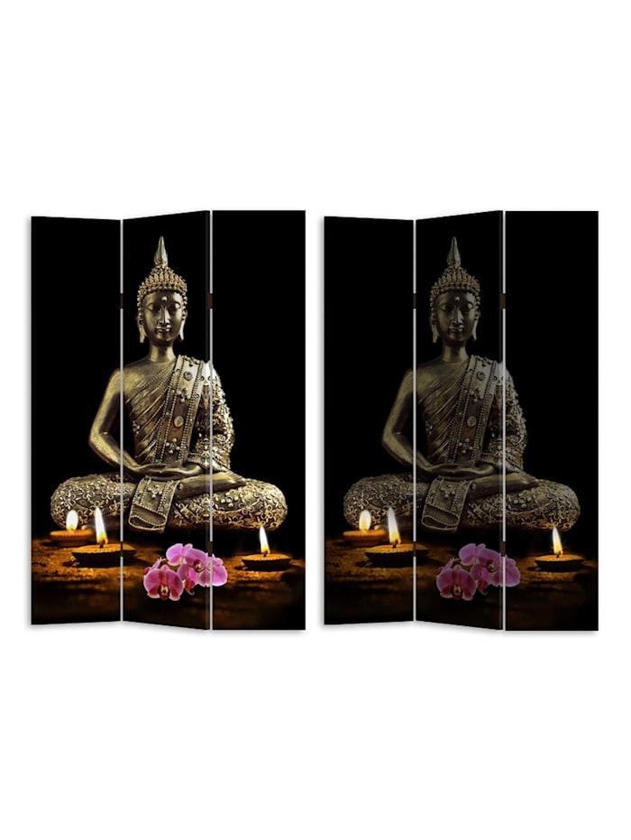 Paravent mit LED Buddha