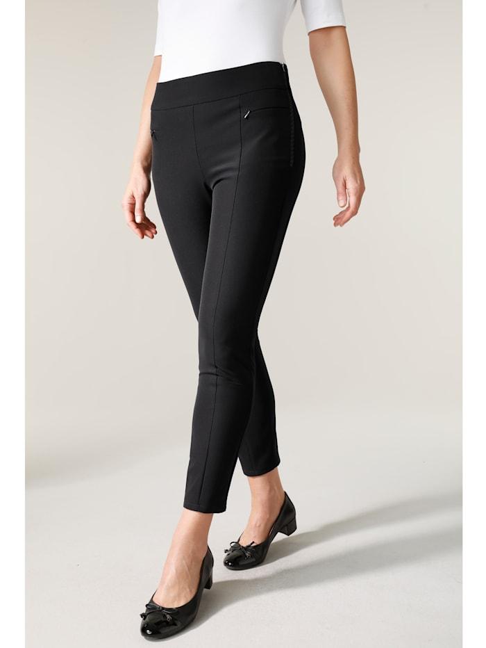 MONA Trousers with a slim leg, Black