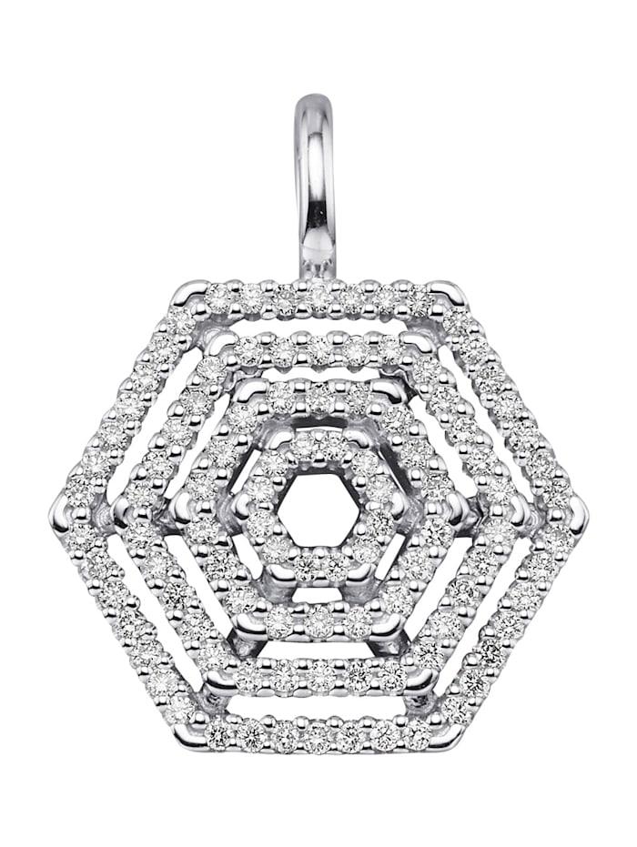 Diemer Diamant Anhänger in Weißgold 585, Weiß