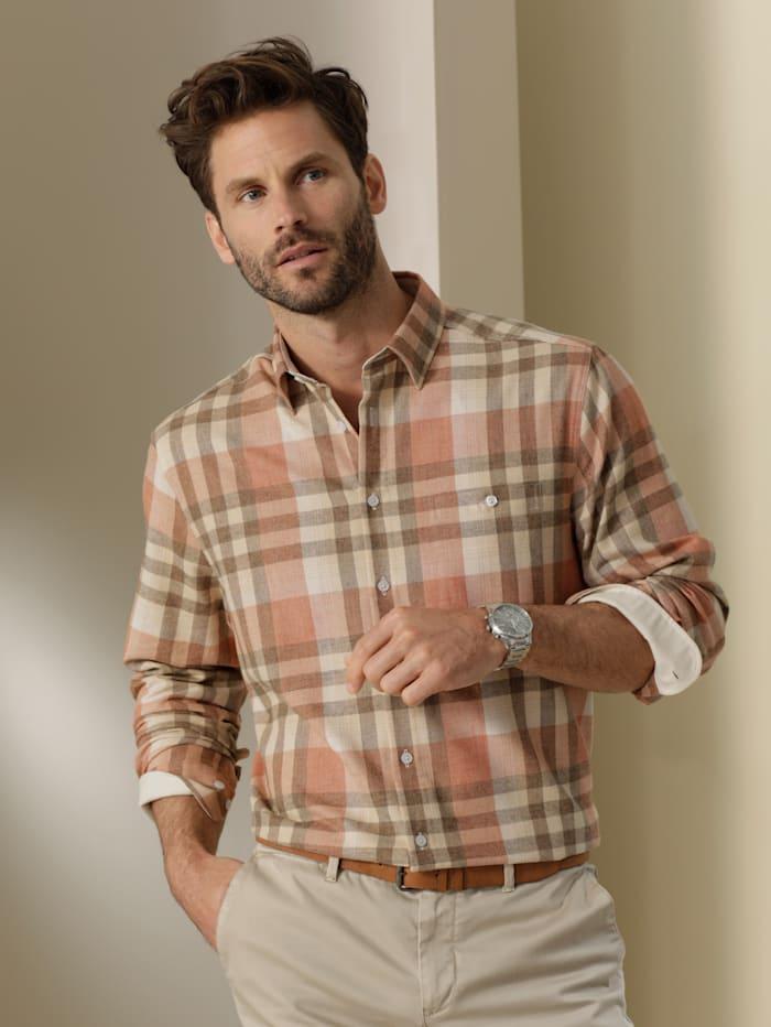 Babista Premium Flanellhemd mit wärmender Wolle, Beige