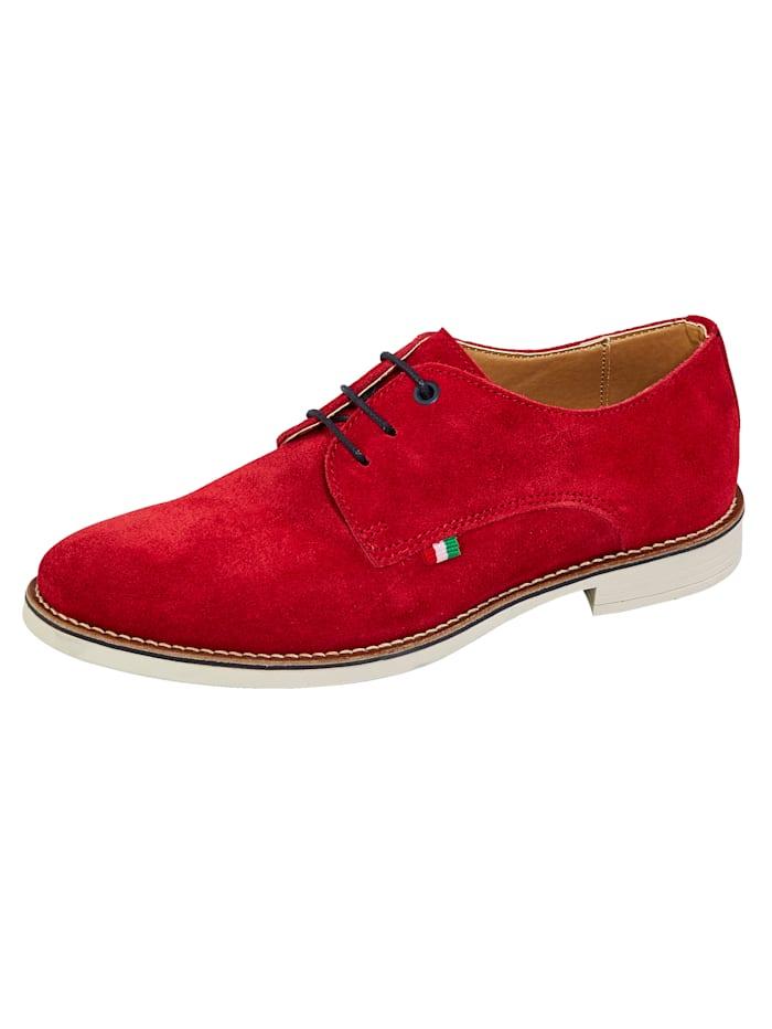 BABISTA Šnurovacia obuv z mäkkej velúrovej kože, Červená