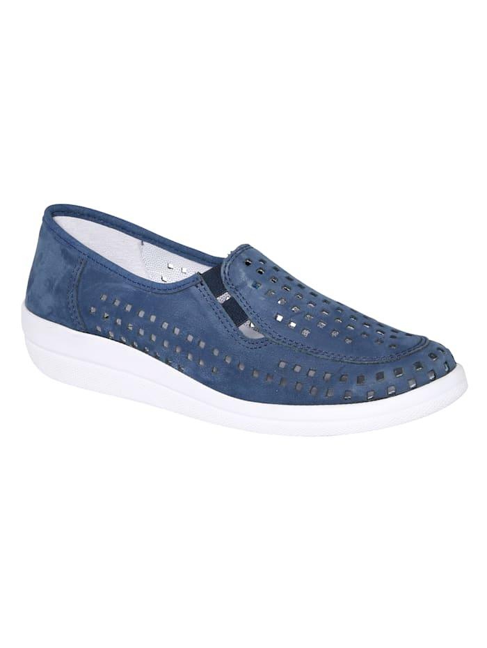 Loafersmed luftiga perforeringar