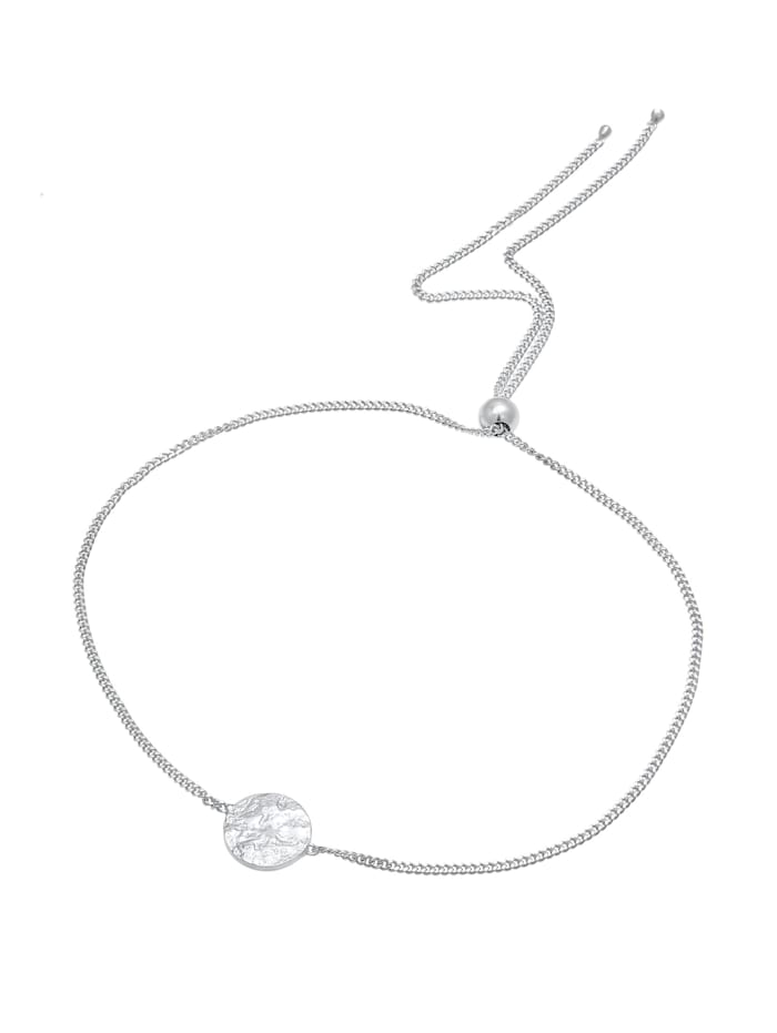 Armband Plättchen Rund Matt Organic Trend 925 Silber