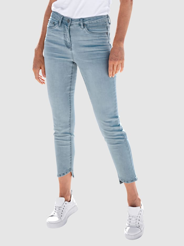 Dress In Jeans med stretch, Blue bleached