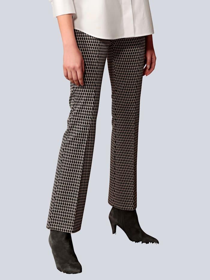 Rosner Hose aus winterlichem Jersey, Grau