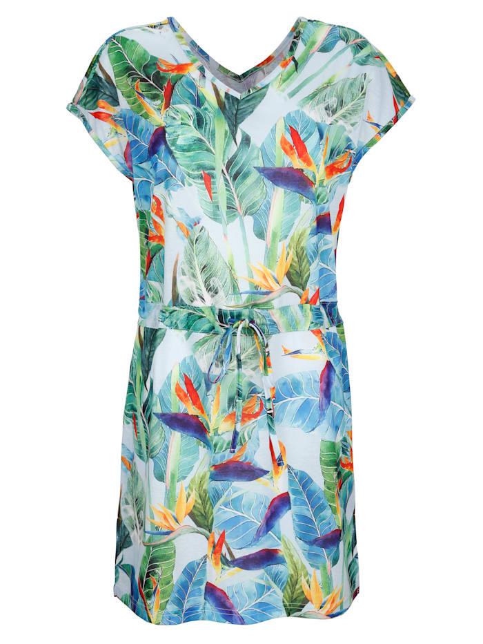 Plážové šaty s potlačou džungle