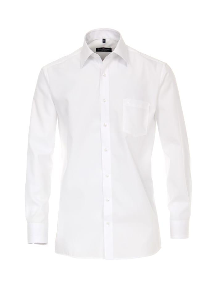 CASAMODA Hemd uni Comfort Fit Keine, Weiß