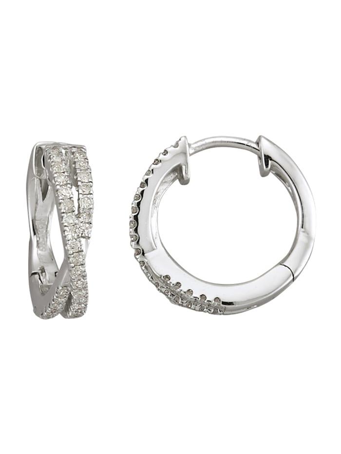 Diemer Diamant Creolen mit Brillanten, Weiß