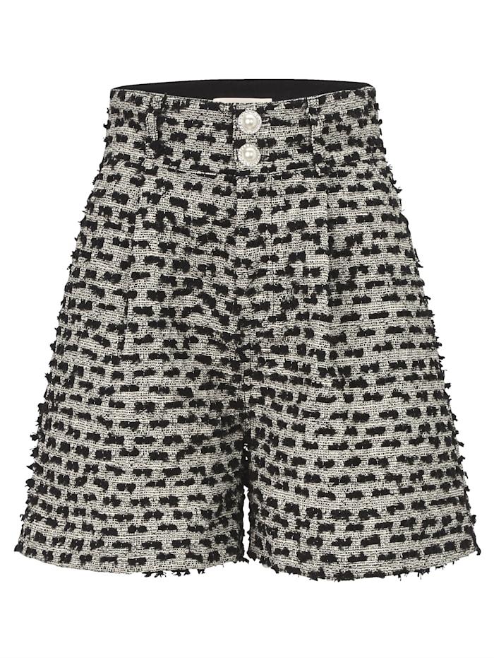 Custommade Shorts aus Bouclé, Schwarz