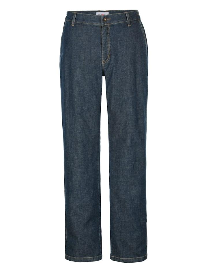 Roger Kent Jeans med komfortresår i sidan, Dark blue