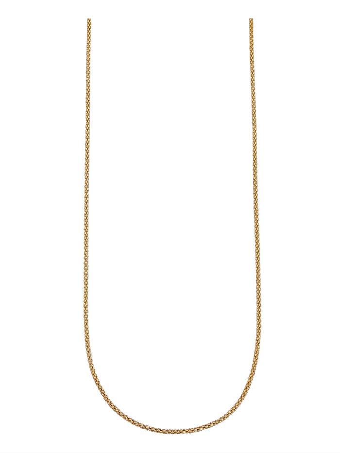Koreanerkette in Silber 925, vergoldet, Gelbgoldfarben