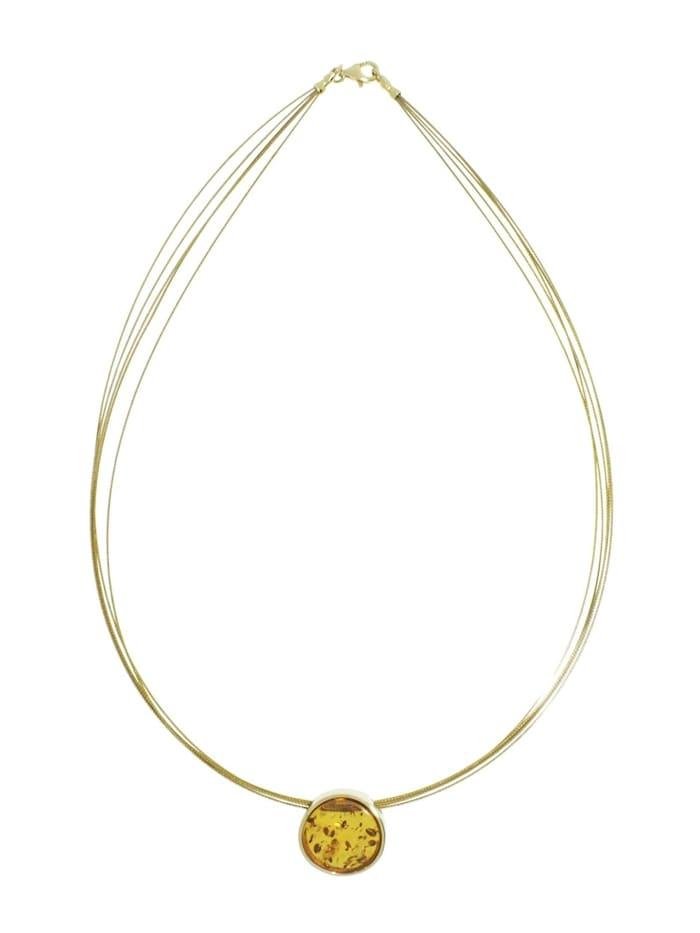 Halsreif mit Anhänger - Gleiter-Frouke 16 mm - Gold 333/000 -