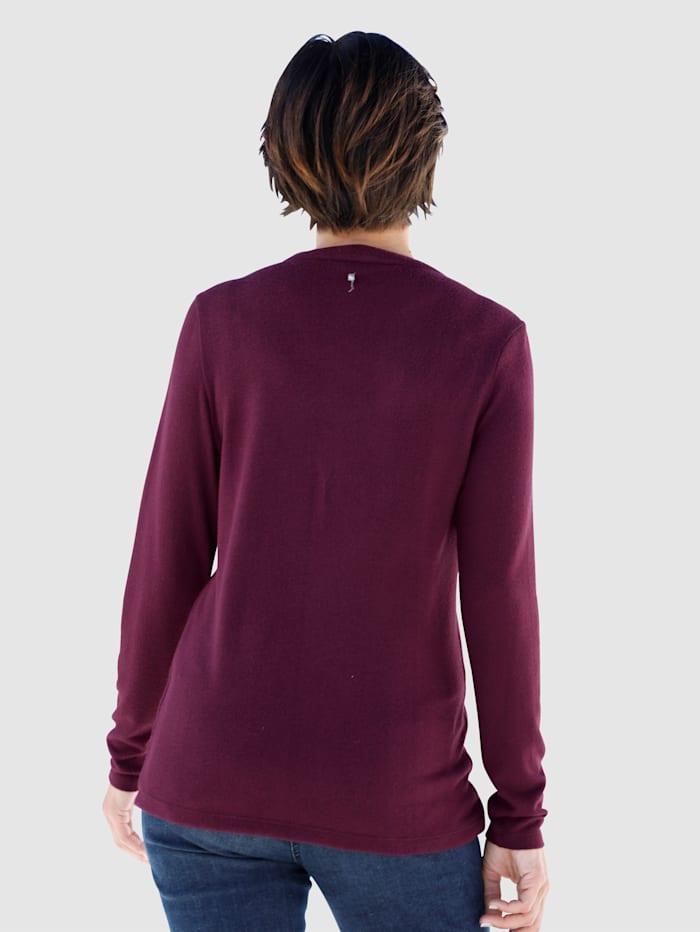 Shirtbluse Mit Rüschenbesatz