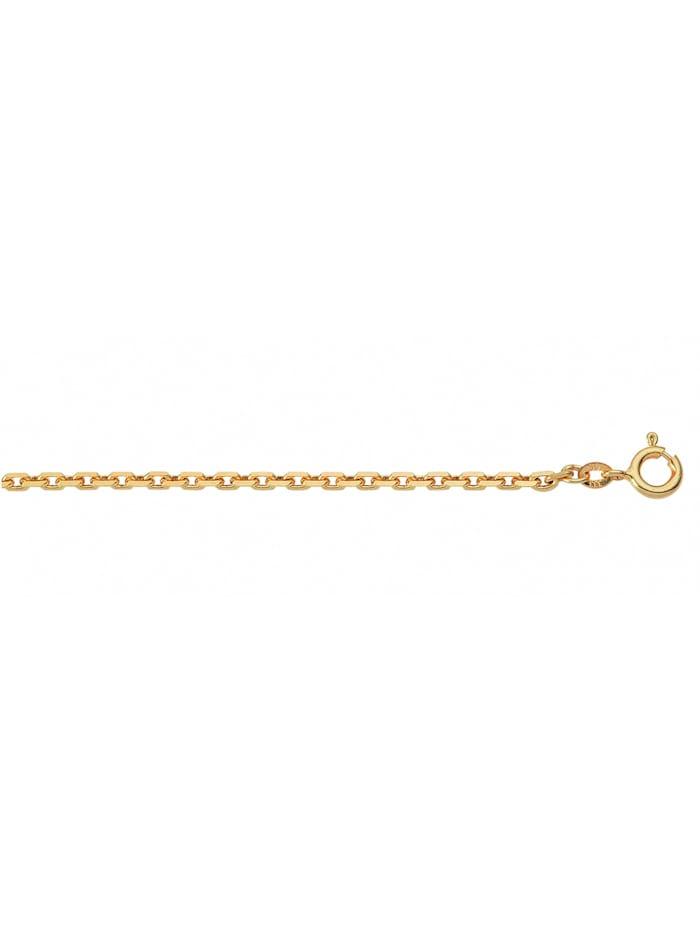 1001 Diamonds Damen Silberschmuck 925 Silber Anker Halskette Ø 1,5 mm, vergoldet