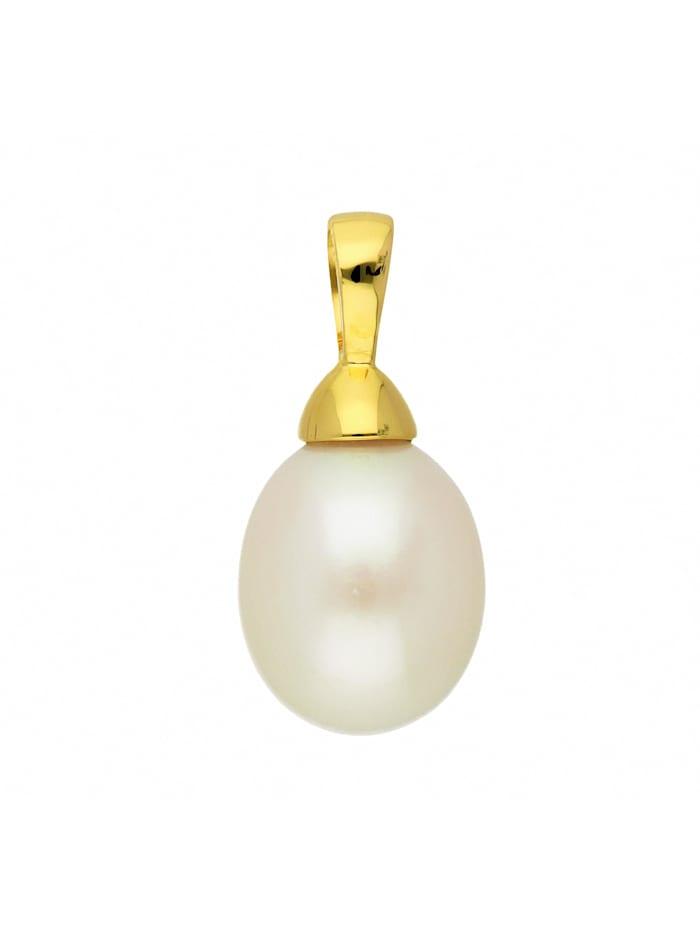 1001 Diamonds Damen Goldschmuck 333 Gold Anhänger mit Süßwasser Zuchtperle, gold
