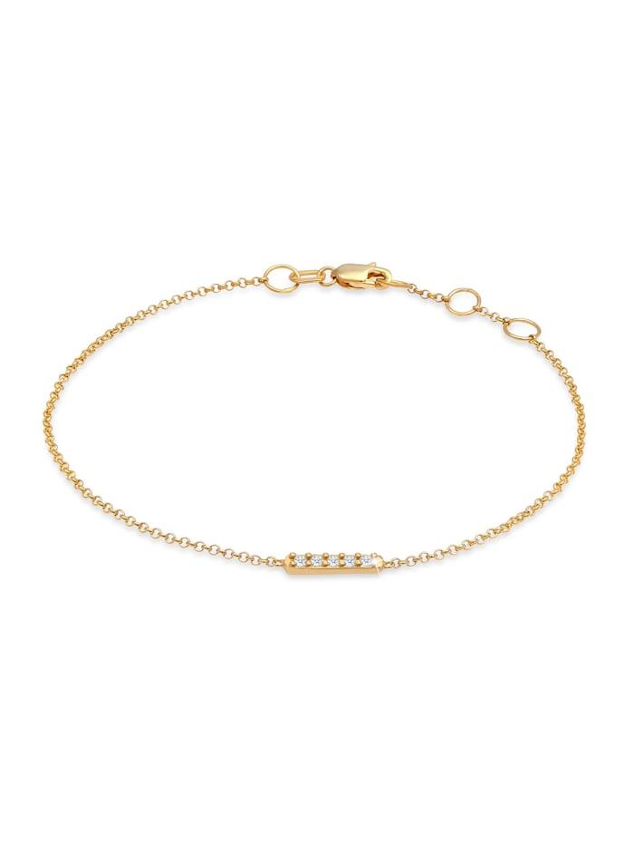 DIAMORE Armband Basic Geo Diamant (0.075 Ct.) 375 Gelbgold, Gold
