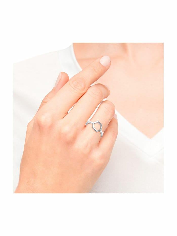 Ring für Damen, 925 Sterling Silber | Hexagon
