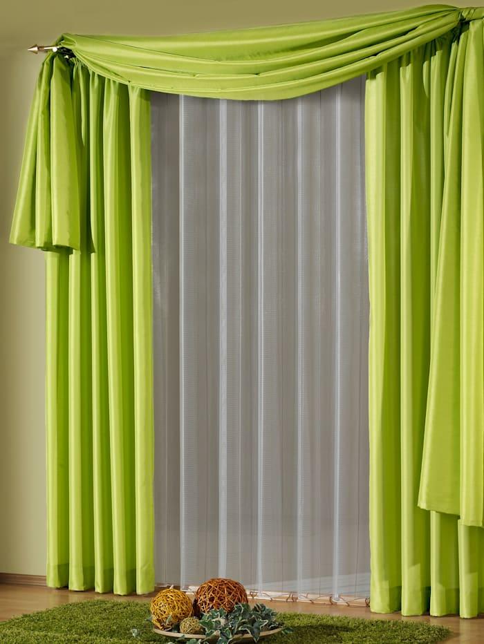 Wirth Einzelschal mit Kräuselband, Ronja, grün