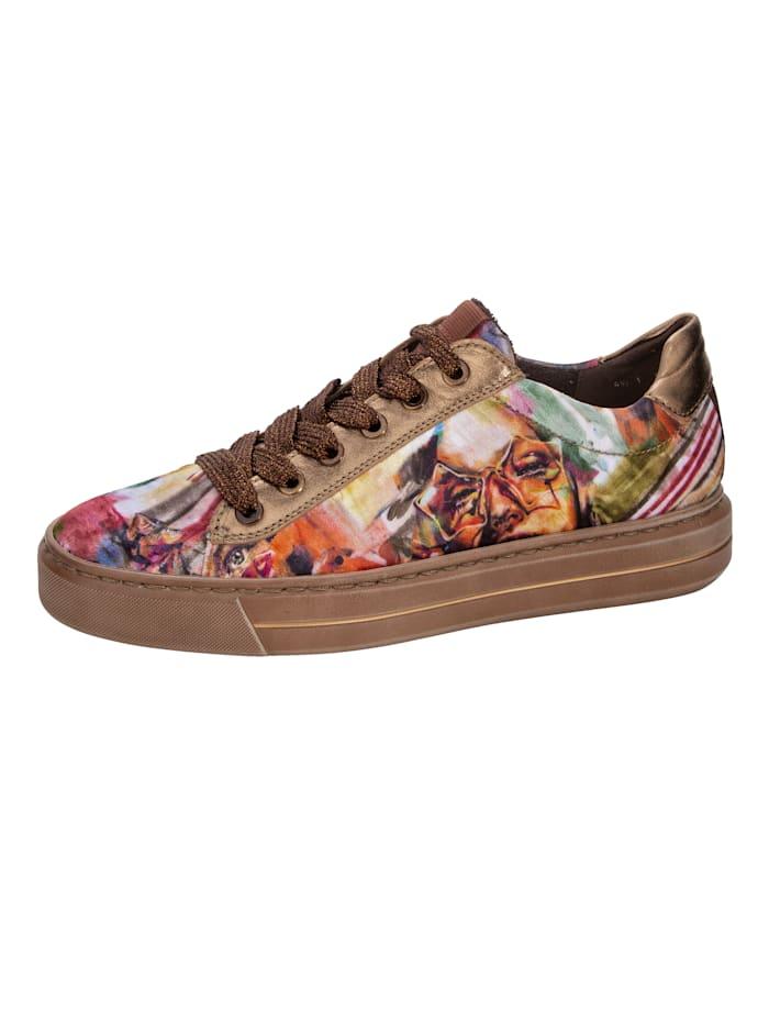 Ara Sneaker met opvallende print, Multicolor