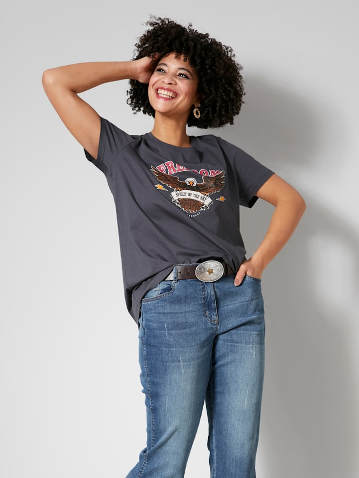 Angel of Style Shirt Met print voor, Antraciet