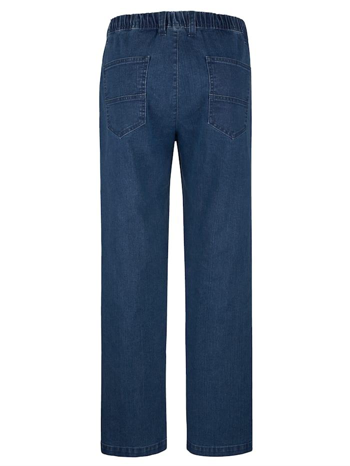 5-Pocket Jeans mit elastischem Bund