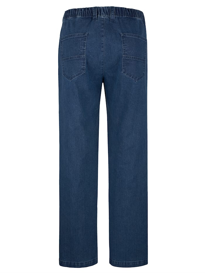 Jean 5 poches à taille extensible
