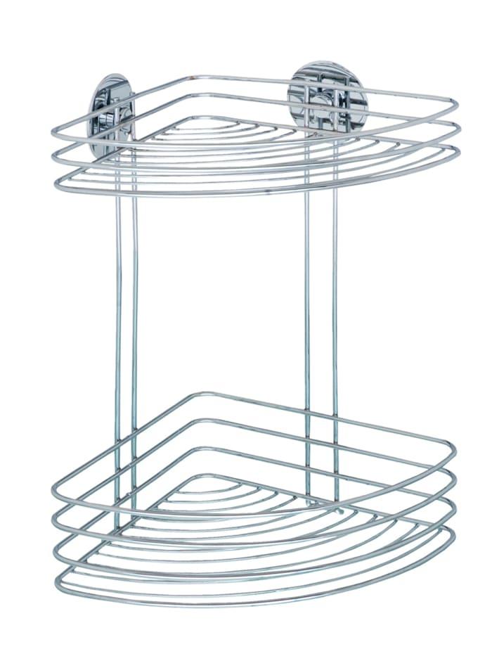 Wenko Turbo-Loc® Eckregal 2 Ablagen, Befestigen ohne bohren, Chrom