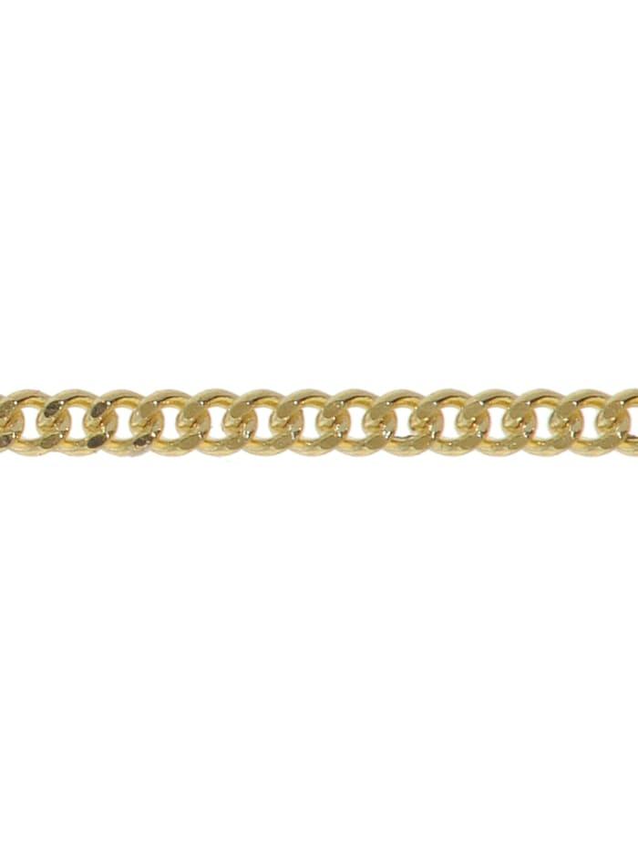 Halskette für Anhänger 585 Gold Flachpanzer-Kette Breite 0,8 mm
