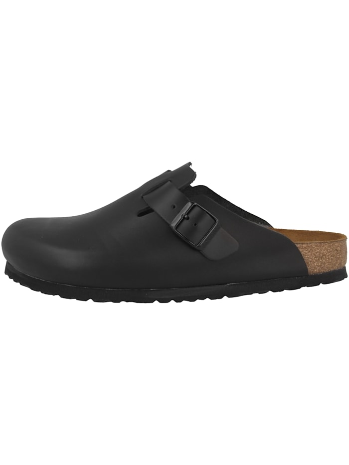 Birkenstock Clogs Boston Naturleder normal, schwarz