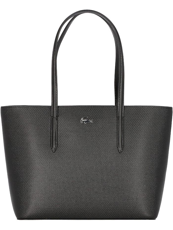 LACOSTE Chantaco Shopper Tasche Leder 30 cm, noir