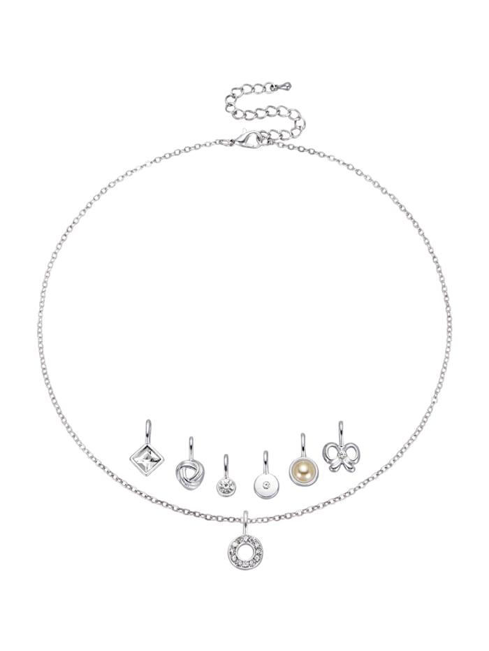 Halskette, Silberfarben