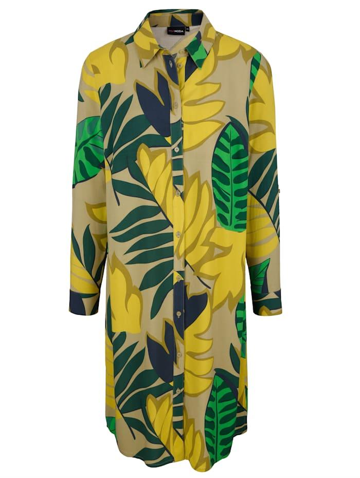 Longbluse mit Dschungel Print